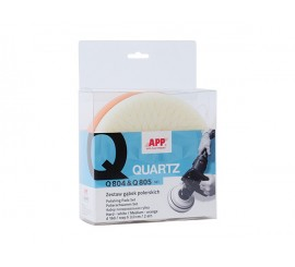 APP QUARTZ Q804 i Q805 - Mousses de polissages-velcro | h30 | blanche/orange | d160 | emballage ( 2 pièces)