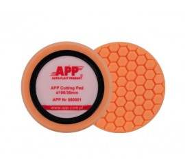 APP GP 190 HONEY Polishing sponge Cutting Pad h35- velcro hard orange d190