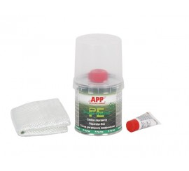 APP Reparatur Box, Repair Kit resin + fabric