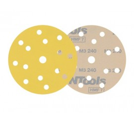 Abrasive disk 14+1 holes NTools Yellow D150
