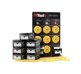 Set of abrasive disks + board NTools System P80-P400